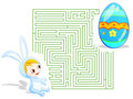 Easter labyrinth Royalty Free Stock Images
