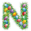 Easter letter N Royalty Free Stock Photos