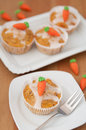 Easter muffins with marzipan carrots Royalty Free Stock Photo