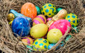 Easter nest different chocolate sweets Royalty Free Stock Photo