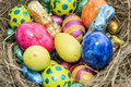 Easter nest different chocolate sweets Royalty Free Stock Image