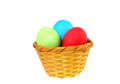 Easter nest with painted eggs Royalty Free Stock Images