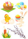 Easter objects Royalty Free Stock Photography