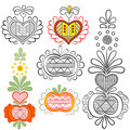 Easter ornaments - vector Royalty Free Stock Images