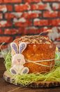 Easter orthodox sweet bread, cottage cheese kulich, colorful bun