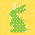 Easter paper decoration in the form of bunny. Easter green bunny