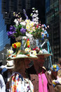 Easter parade and easter bonnet festival a couple participates in the in fifth avenue new york city Stock Photo
