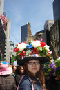 Easter parade and easter bonnet festival a france hat at the in fifth avenue new york city Royalty Free Stock Images