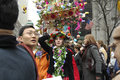 The Easter Parade in front of St. Patrick`s Cathedral on 5th ave