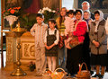 Easter, parishioners of the Orthodox Church. Royalty Free Stock Image