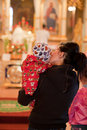 Easter, parishioners of the Orthodox Church. Stock Image