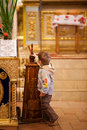 Easter, parishioners of the Orthodox Church. Stock Photography
