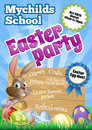 Easter Party Flier Royalty Free Stock Photo