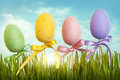 Easter pastel colored eggs Royalty Free Stock Photos