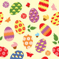 Easter pattern for a holiday package Royalty Free Stock Images