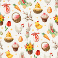 Easter pattern seamless vector eps Stock Photo