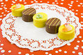 Easter petit fours Stock Photography
