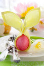Easter place setting Royalty Free Stock Images