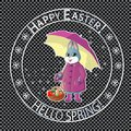 Easter post stamp-04 Royalty Free Stock Photo