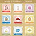 Easter postage stamps Royalty Free Stock Photo