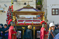 Easter procession at palermo sicily italy Stock Photography