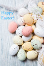 Easter quail eggs pile symbolizing time Stock Images