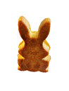 Easter rabbit cake white background Royalty Free Stock Photography