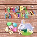 Easter. Easter rabbit with colored