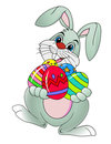 Easter rabbit with Easter egg Royalty Free Stock Photography