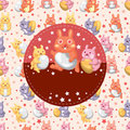 Easter rabbit and egg card Royalty Free Stock Photos