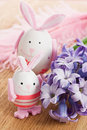 Easter rabbit egg decoration Royalty Free Stock Photo