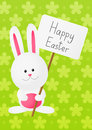 Easter rabbit on green floral background Stock Photo