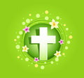 Easter religious cross spring card greeting Stock Photography