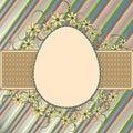 Easter retro frame Stock Photography
