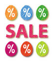 Easter sale eggs Royalty Free Stock Photo