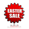 Easter sale in red flower banner d with white text business holiday shopping concept Stock Photo