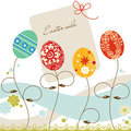 Easter sale tag Royalty Free Stock Photos
