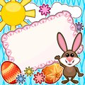 Easter scrapbook card Stock Photos