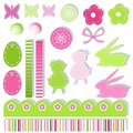 Easter scrapbook elements Royalty Free Stock Photo