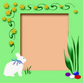 Easter scrapbook frame Royalty Free Stock Images