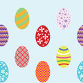 Easter seamless background vector with eggs Stock Images