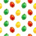 easter seamless pattern with colorful painted eggs, spring holidays, for textile printing or background, wallpaper, ad, banner