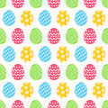 Easter seamless pattern with eggs. Vector background.