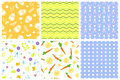Easter seamless pattern retro vintage design party holiday celebration wallpaper and greeting colorful fabric textile