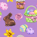 Easter seamless pattern. Violet seamless decorative seasonal pattern.