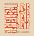 Easter seamless patterns. Set.