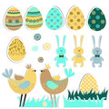 Easter set. Royalty Free Stock Images