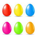 Easter set paschal eggs illustration on white background Royalty Free Stock Photography
