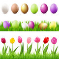 Easter Set. Vector Stock Image