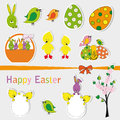 Easter sets Royalty Free Stock Image
